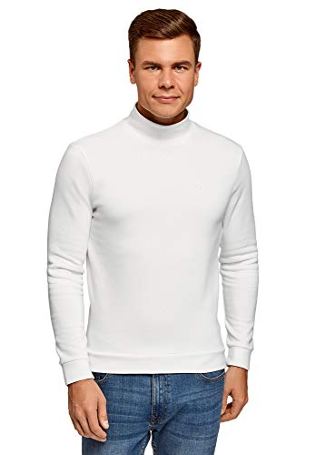 Oodji Ultra Hombre Suéter Recto con Cuello Mao