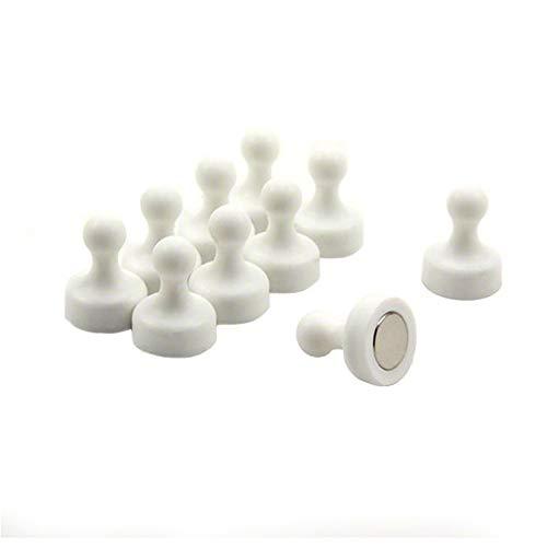 Magnet Expert Haute puissance blanc Quille Aimant - Bureau et réfrigérateur (19mm de diamètre x 25 mm de haut) (paquet de 10)