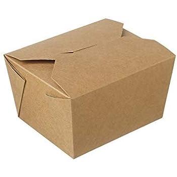 Cajas de comida para llevar [nº 1 – nº 11] biodegradables, a prueba de fugas, cajas de cartón para alimentos para ensaladas y sándwiches con varios tamaños, #1 Kraft: Amazon.es: Industria, empresas y ciencia