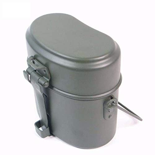 La Segunda Guerra Mundial Alemania Militar Verde 3 Unids En 1 Camping Cookware Cook Set Senderismo Supervivencia Loncheras Pot/Bowl
