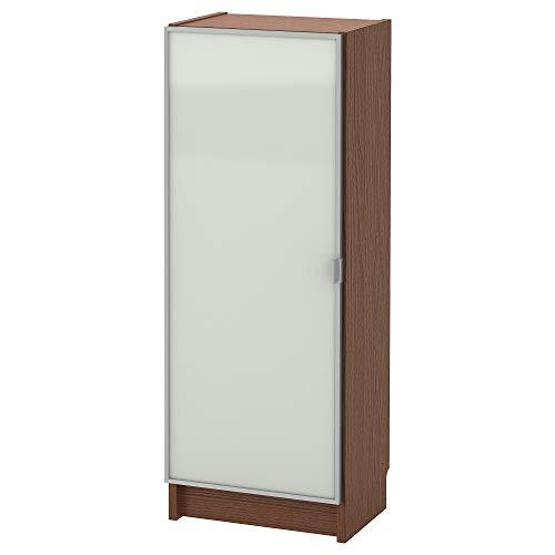 BILLY/MORLIDEN estantería con puerta de cristal 40x30x106 cm chapa de ceniza marrón/vidrio