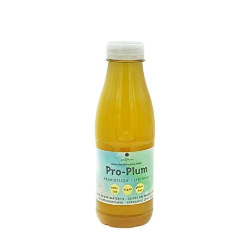 Louie's grünepflaume® Pro-Plum 12 lebendige Bakterienstämme + Inulin - zuckerfrei: 30 Mrd KBE je Flasche - Vegan, in Deutschland produziert. 500 ml