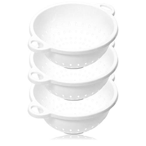 "Chef Craft 5-Quart Colander 11"" x 5"" in Size, White, 3-Pack"