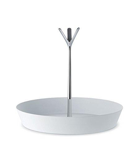 Alessi Tutti Frutti GIA19 W Obstschale, Edelstahl, epoxidharzlackiert, Super White, Ø 29,5 cm