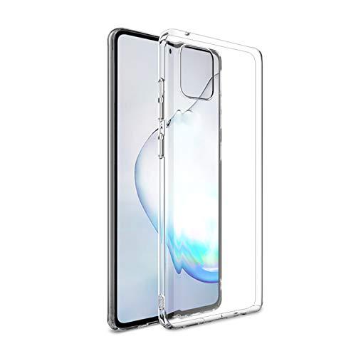 NEW'C Kompatibel mit Samsung Galaxy Note 10 Lite Hülle, Ultra transparent Silikon Gel TPU Soft Cover Hülle SchutzKratzfeste mit Schock Absorption & Anti Scratch