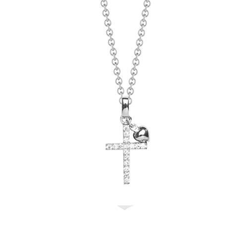 NANA KAY Sweet Talisman ST765 - Collar de cruz de plata con circonitas