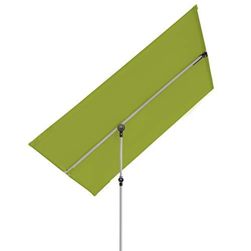 Doppler Active Balkonblende – Rechteckiger Sonnenschirm ideal für den Balkon –Plus Sichtschutz – 180x130 cm – Grün