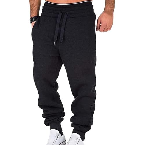 N\P Pantalones deportivos de los hombres Pantalones largos casuales con cordón para hombre, A6., M
