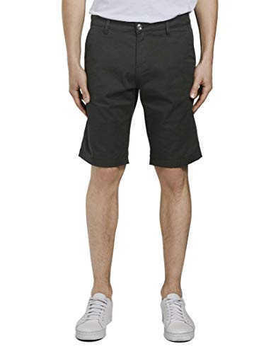 TOM TAILOR Denim Herren Slim Chino Shorts, 29999-Black, M