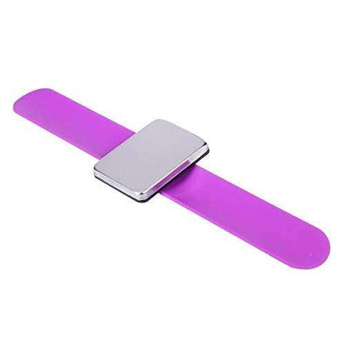 KYT-ma Bracelet magnétique Professionnel Bracelet Bracelet Ceinture Clip Holder Outils de Cheveux Coiffure Styling Coiffure Accessoires Cheveux (Couleur : Violet)