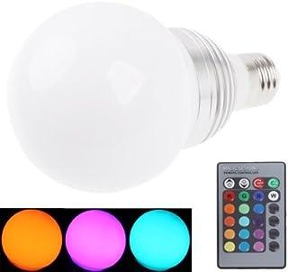 SGJFZD E27 10W RGB LED Light Bulb with Remote Controller AC 85-265V LED Light Bulb Luminous Flux: 800-900lm