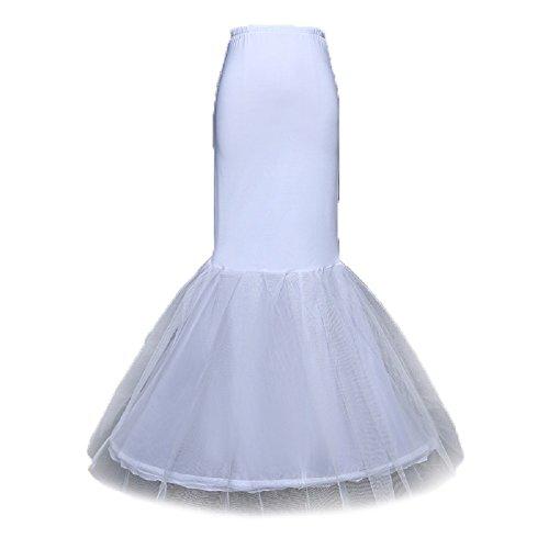 Neu Weiß Meerjungfrau Mermaid 1 Ring Unterrock Petticoat Brautkleid Reifrock