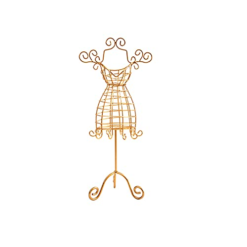 Savin Soporte de exhibición de joyería Collar de Vestido de Princesa Hueco Soporte de Soporte de joyería Modelo de Dama Vestido Pendiente Collar Anillo Soporte de joyería Soporte de exhibición