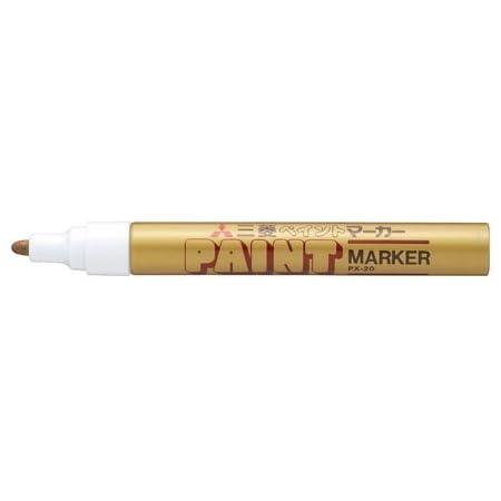 三菱鉛筆 ペイントマーカー 中字【金】PX-20.25 3個セット