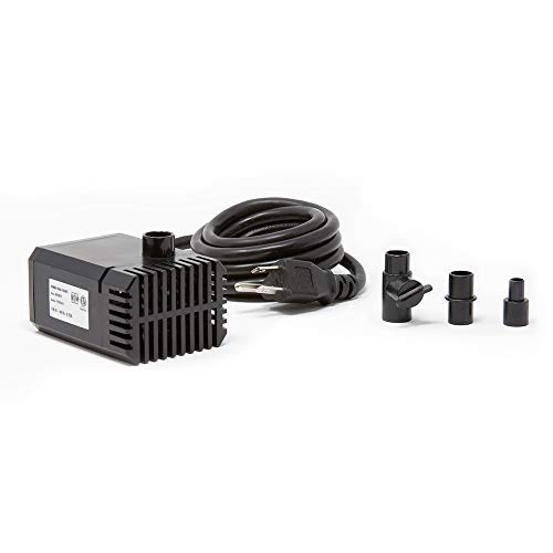 Beckett Corporation 7202610 160 GPH Submersible Auto-Shutoff Small Pump for Indoor/Outdoor Ponds, Fountains, Water Gardens, 4.1' Max Height, Black