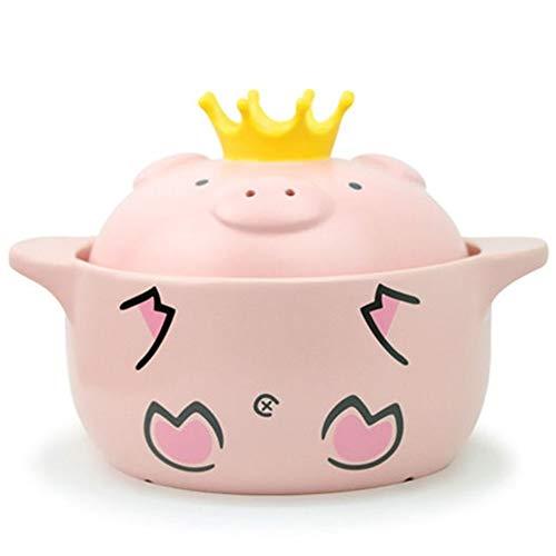 Pink Pig Weerstand Op hoge temperatuur braadpan Behandel keramische kookplaat keukengerief (Color : M)