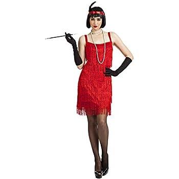 Disfraz Charleston Flecos Rojo X-L: Amazon.es: Juguetes y juegos