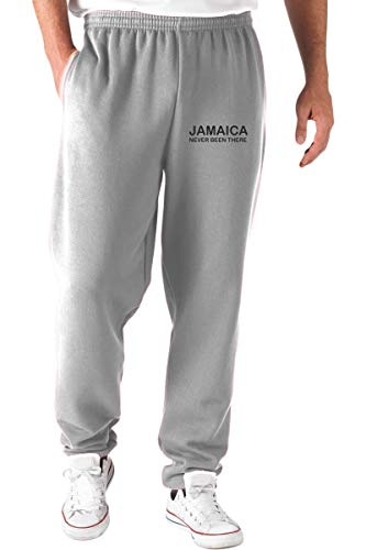 T-Shirtshock Jogginghose Grau TDM00139 Jamaica Never Been There