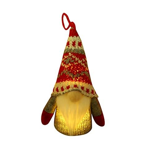 Muñeca de Gnomos luminosa de Navidad con forma de Elfo, decoración de mesa de peluche, decoración...