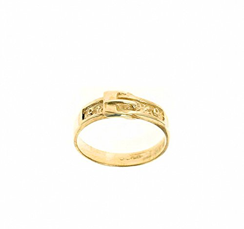 9ct Yellow Gold Buckle Ring (Size F - V) Made to order in the Birmingham Jewellery Quarter (U) (V)