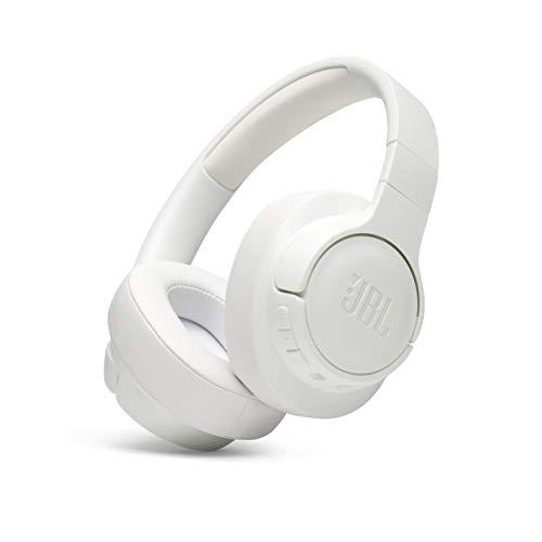 JBL Tune 700BT Over-Ear Kopfhörer - Kabellose Bluetooth Ohrhörer mit 27 Stunden Akkulaufzeit - Musik Streaming und telefonieren unterwegs Weiß