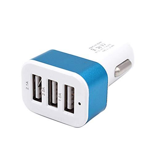 LEVEL GREAT DC 5.0V 2.1A / 2A / 1A Coche Universal 3 Puertos USB Cargador de teléfono de Carga rápida Adaptador Enchufe USB