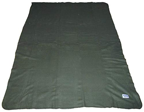 Commando Industries Kuschlige Flauschige Army Style Picknick Decke Outdoordecke 140 * 190cm (Oliv)