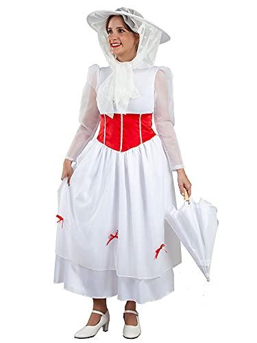 DISBACANAL Disfraz niñera Poppins para Mujer -