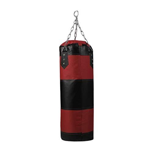cottonlilac Sandsack für Training, Fitness, MMA, Boxsack, zum Aufhängen, 70 cm, Rot und Schwarz