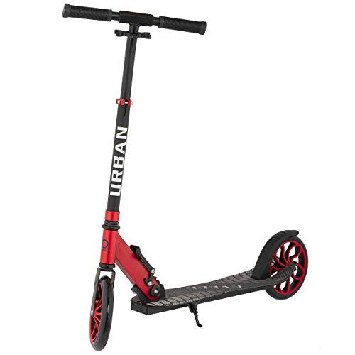 Mad Wheels, URBAN Scooter, 1 klick Klapung Tret-Roller, 200 mm Räder ABEC 7 für Erwachsene und Kinder, max 100 kg