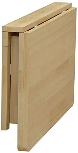 L.W.S Mesa Plegable Mesa Plegable Cuadrada, Mesa montada en la Pared Dobla, Mesa de Madera Plegable, construcción Robusta Estable, Tablas de Hojas de Gota para Espacios pequeños (50 cm × 80cm)