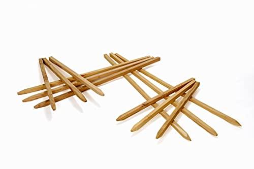 Kantholz aus Akazie - Vierkant Holzpfahl Holz Profil Pfosten gesägt und einseitig angespitzt (HxB: 3x3 cm L: 150 cm)