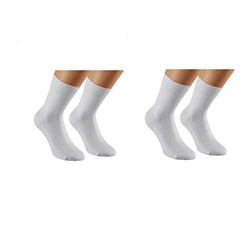 ILOVEDIY 10 bis100 Paar Comfort Sneaker Business Socken - Schwarz und Weiß - Herrensocken Damensocken (Weiß/10 Paar)