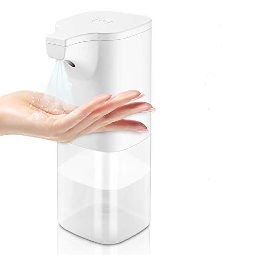 Yocktec Desinfektionsspender Automatische Sensor Automatisk Sprühspender mit Sensor Elektrischer seifenspender automatisch für Küchen und Badezimmer Waschraum/öffentlicher Ort 380ml klar Flasche, Weiß