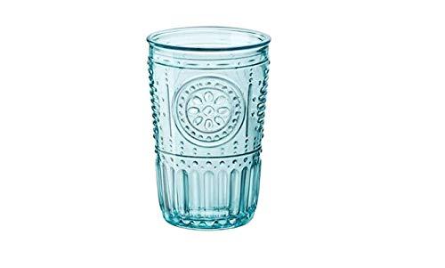 Bormioli Rocco Romantic Cooler Glass, Set of 4, 16 oz, Light Blue