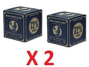 Marius Fabre - SAVON DE MARSEILLE à l'huile d'olive Style Vintage - Lot de 2 Cubes 2 x 400 Gr