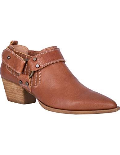 Dingo Western Shoes Womens Kickback Leather Bootie 7.5 M Cognac DI106