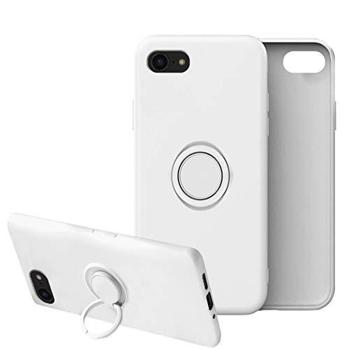 Funda para iPhone 7/7 Plus Apple Case,Fundas iPhone 7/7 Plus Silicona Antigolpes Carcasa Gel de sílice líquido Compatible con Posterior Magnético Iman (iPhone 7, Blanco)