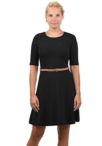 VERO MODA Scarlet Damen Jerseykleid Shirtkleid Kleid Mit Rundhals-Ausschnitt Elastisch, Größe:M, Farbe:Black