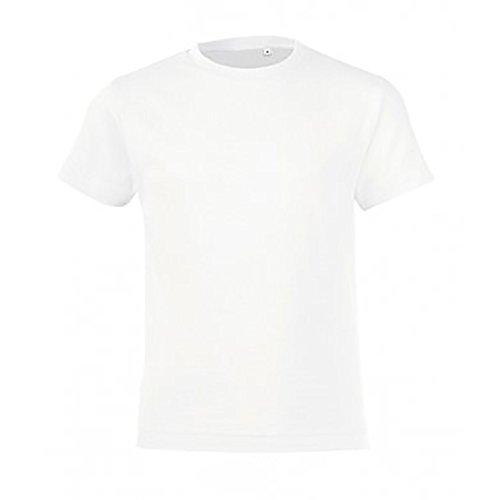 SOLS - Camiseta de manga corta modelo Regent para niños (10 años/Blanco)