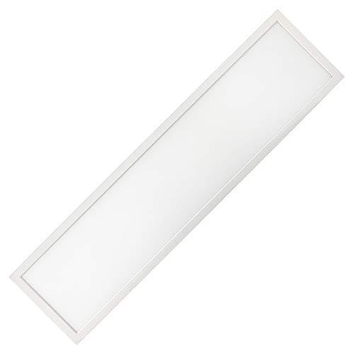 Rechteckig Deckenleuchte LED Panel rechteckig schmal 40W watt Leistung 120x30 cm Zentimeter in neutralweiß 4000 K - 4500 K. Lebensdauer von 30000 Stunden und 3 Jahren Garantie.