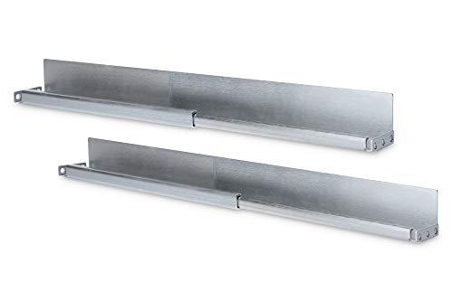 DIGITUS 1HE - Rieles deslizantes para armarios de servidores de 19', profundidad variable de 50 a 75 cm, perfil en L, chapa de acero de 2 mm, capacidad de carga de 100 kg, color plateado