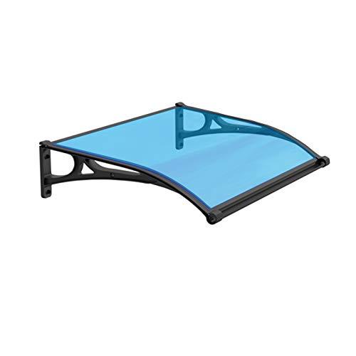 GuoWei Marquesina para Puertas Ventanas, Lluvia Policarbonato Exterior Y La Cubierta De Nieve, Refugio De Techo Translúcido para Jardín, Tamaño Personalizado (Color : Blue, Size : 60x100cm)