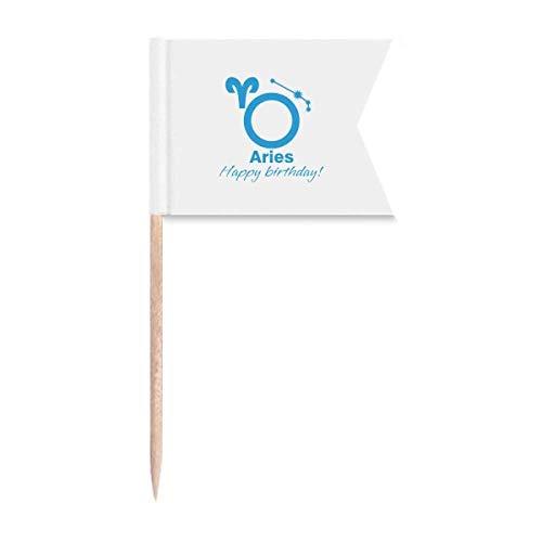 Sternbild Fate Geburtstag Feier Widder Zahnstocher Flaggen Kennzeichnung für Party Kuchen Lebensmittel Käseplatte