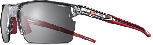 Julbo J5194014 - Gafas de sol para adulto, unisex, translúcido, negro shiny/rojo, M