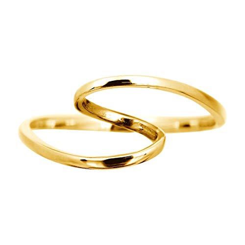 [ココカル]cococaru 地金 リング k18 イエローゴールド/ホワイトゴールド/ピンクゴールド ファッションリング 品質保証書 金属アレルギー 日本製(ホワイトゴールド 15)