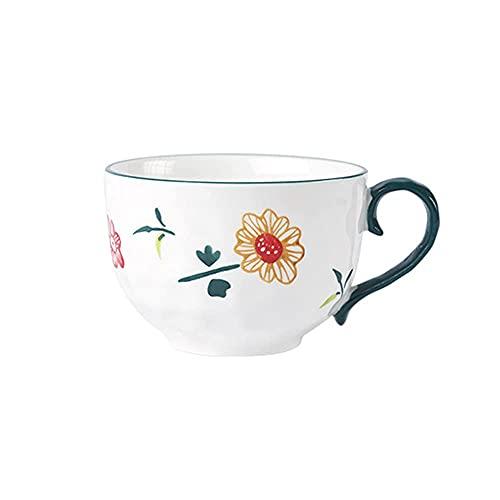 CGDX Tazas divertidas para café, tazas de cerámica grandes para café juego tazas de café con capuchino té leche para el desayuno bebidas avena tazas de yogur 540 ml E.