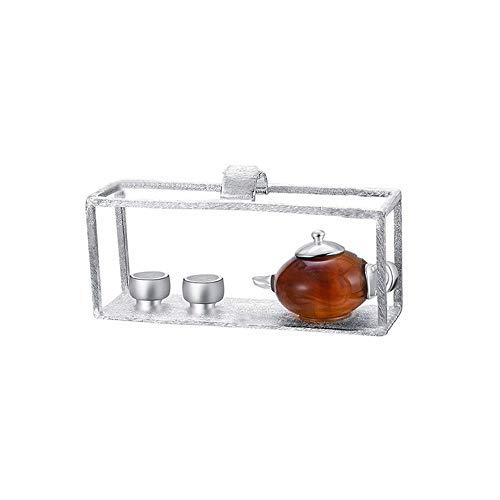 HYLH 925 Silber Handgemachter Edler Schmuck Natürlicher Bernstein Original Teekanne Design Anhänger ohne Halskette