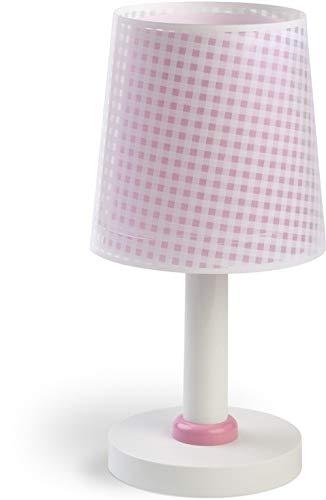 Dalber Lámpara Infantil de mesilla Vichy Rosa, 40 W