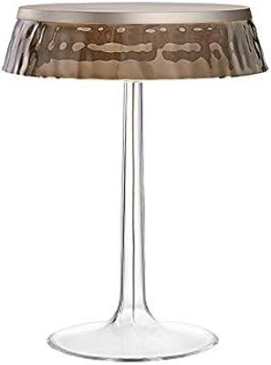 Flos Bon Jour LED Lampada da Tavolo Dimmerabile Top Cromo Opaco E Corona Fumè